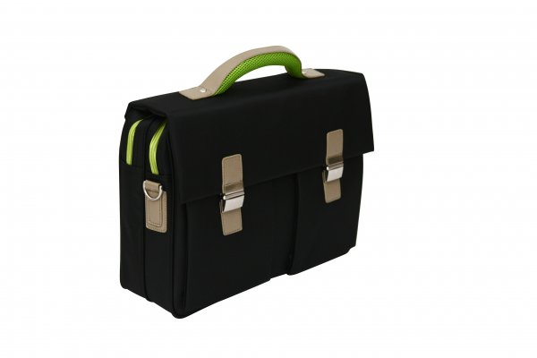 "341 Green Trim Soft Quality 15.6"" Laptop Briefcase"