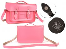14 BABY PINK MAGNET ENGLISH BRIEFCASE SATCHEL
