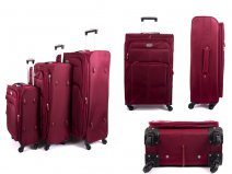 4421 RED SET OF 3 SUPERLIGHT LUGGAGE