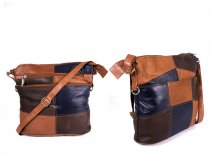 3862 LEATHER PATCH X BODY BAG