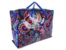 JBLND01 BLUE FLOWER PAISLEY LARGE LAUNDRY BAG