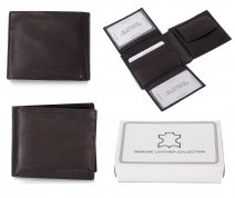 1011 RFID BLACK LONDON LEATHER WALLET W/ 2 CC FLAPS
