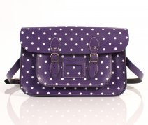 RL15 PATENT PURPLE POLKA DOT ENGLISH NEW