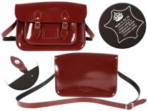 14 PATENT OXBLOOD MAGNET ENGLISH SATCHEL