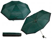 2801 Black-Green Ladies Patterned Folding Compact Umbrella