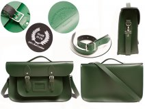 15 RACING GREEN OXBRIDGE BRIEFCASE SATCHEL