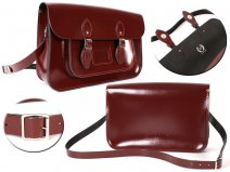 15 OXBLOOD PATENT MAGNET ENGLISH SATCHEL
