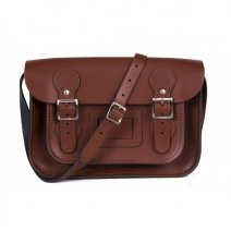 11 CIRCLE BROWN SATCHEL