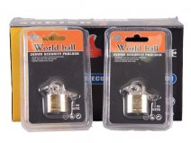 0242 box worldball padlock SET OF 12