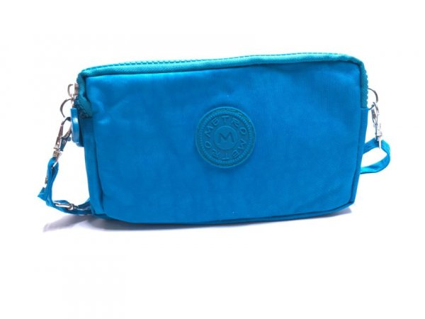 LL-6 Plain Blue Metro Pouch Bag With Strap