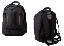 JCBBP18 BLACK JCB BACKPACK W/ 6 ZIPS