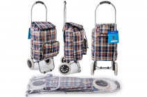 ST-CH-03 COFFEE CHECK 2 WHEEL SHOPPING TROLLEY
