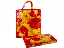 0007- red/flowers/yellow Set of 12