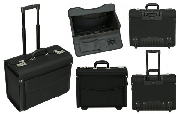 PL1650 Tassia 1680D Pilotcase with Trolley