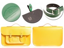 15 DOUBLE YELLOW MAGNETIC SATCHEL W/HANDLE