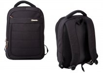 BP850-AB BLACK BACKPACK W/ LAPTOP SLEEVE & 3 ZIPS