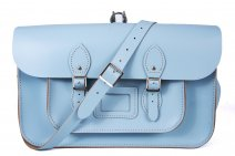 "15"" BACKPACK BABY BLUE MAGNETIC LEATHER"