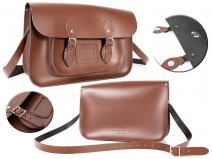 15 CHESTNUT BROWN MAGNET ENGLISH SATCHEL