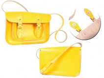 11 DOUBLE YELLOW MAGNETIC ENGLISH SATCHEL