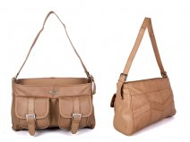 BW366879 BEIGE LEATHER HANDBAG