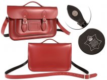 14 RED MAGNET ENGLISH BRIEFCASE SATCHEL