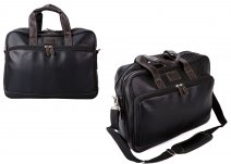 L-8028C LAPTOP BAG BLACK/BROWN