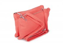 JBFB245 CORAL PU DOUBLE COMPARTMENT CROSSBAG