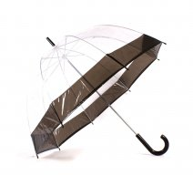 2804 Clear Pvc Dome Umbrella Black
