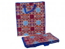 0009- Blue/ orange/pattern Set of 12