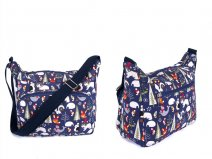 CC-119 NAVY ANIMAL Canvas bag with 3 zips