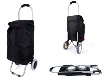 6958 BLACK 2 WHEEL SHOPPING TROLLEY