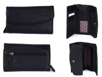 JBPS127 BLACK PURSE WITH 2 POP FRONT PKT AND 1 ZIP