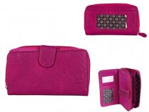 JBPS118 PINK PURSE WITH POP FRONT & 1 ZIP