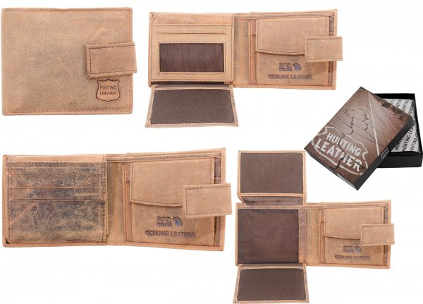 1063 HUNTER TAN LEATHER RFID WALLET