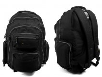 JCBBP22 BLACK/GREY BACKPACK WITH 7 ZIP LAPTOP COM