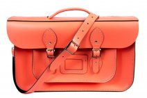 "15"" SALMON BRIEFCASE MAGNETIC LEATHER"