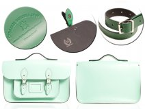 "12"" MINT MAGNETIC SATCHEL W/HANDLE"