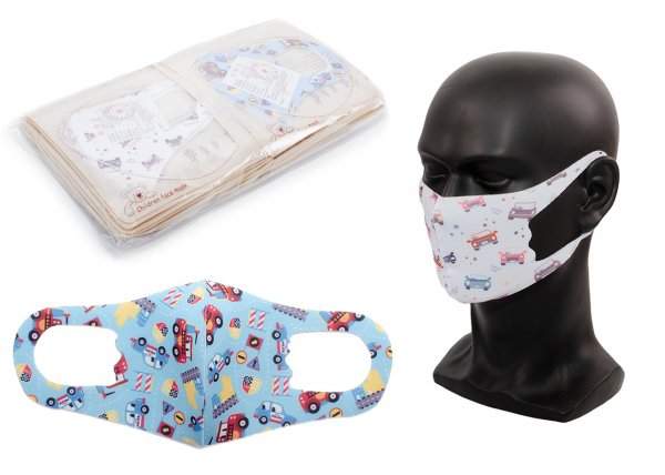 Cotton Breathable Child Face Mask 20 Pack in pattern print