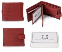 1008 RFID ORANGE LONDON LEATHER WALLET W/ 2 CC FLAPS