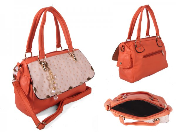 SUS1 SALMON BUBBLE FLAP PU BAG