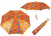 CASAVIA ORANGE/BLUE FLOWER PRINT UMBRELLA