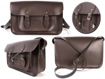 15 CHOCOLATE BROWN MAGNETIC SATCHEL NO HANDLE