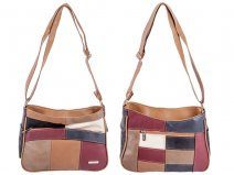 3820 Multi Cow Hide Bag Twin Top Zip