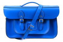 "15"" DARK BLUE BRIEFCASE MAGNETIC LEATHER"