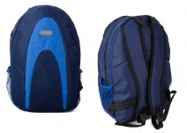 LL-BP-1 Blue Rucksack w/ 3 Zips and Netting