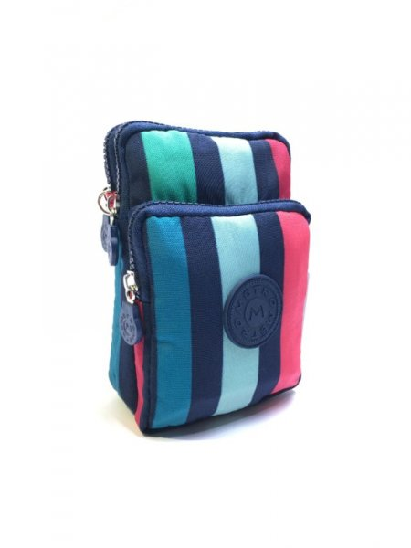 LL-5 Printed Multi-colour Striped Metro Crossbody Bag