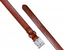 "2900 Brown 1"" XXL DISTRESSED LEATHER BELT-NICKEL BEKL"