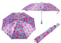CASAVIA BLUE/PINK FLOWER PRINT UMBRELLA