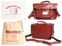 "IN-NEW 13"" RED SATCHEL WITH HANDLE"