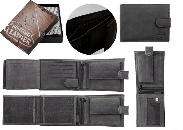 1004 HUNTING BLACK LEATHER WITH RFID